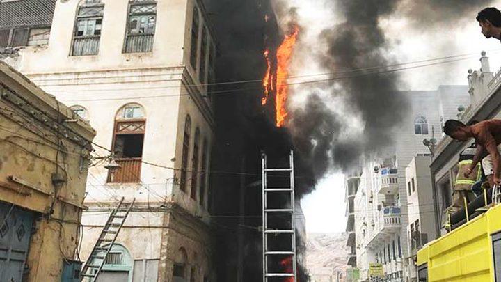 حريق في محل تجاري وسيارة بقرية كابول
