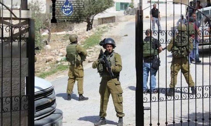 قلقيلية: قوات الاحتلال تقتحم مدرسة جيت الثانوية