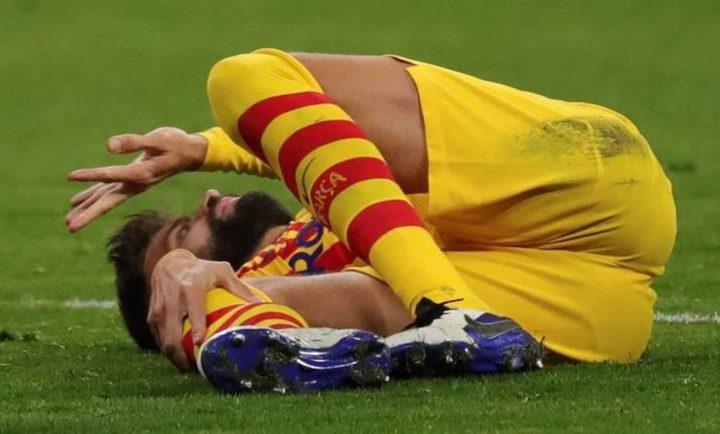 برشلونة يعلن إصابة بيكيه وروبيرتو