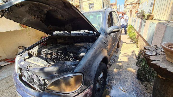 مجهولون يحرقون سيارة في كفر مندا