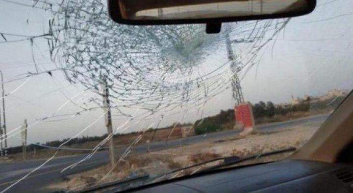 مستوطنون يهاجمون مركبات المواطنين على طريق نابلس-قلقيلية