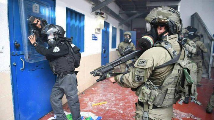 """قوات القمع تقتحم قسم (22) في """"عوفر"""""""