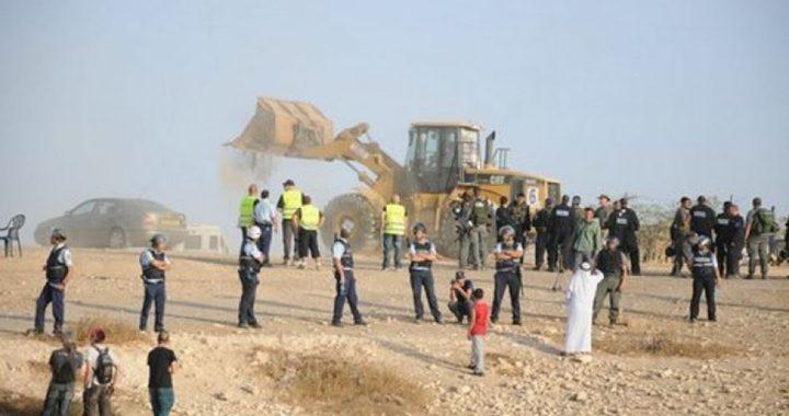 تواصل اعتداءات الاحتلال على المواطنين في قرية العراقيب