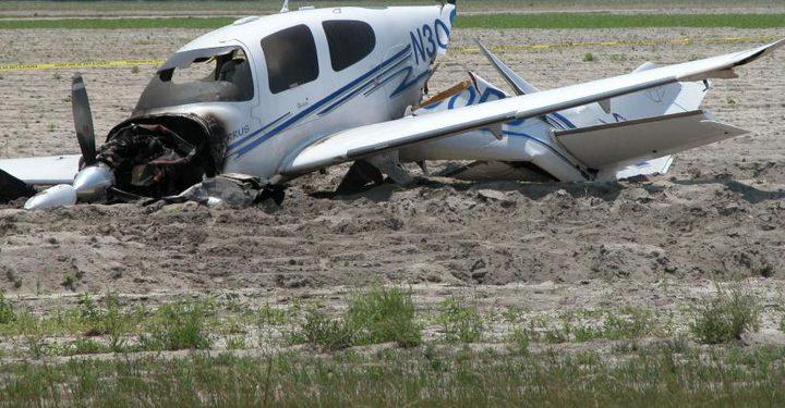 وفاة إسرائيليين في تحطم طائرة