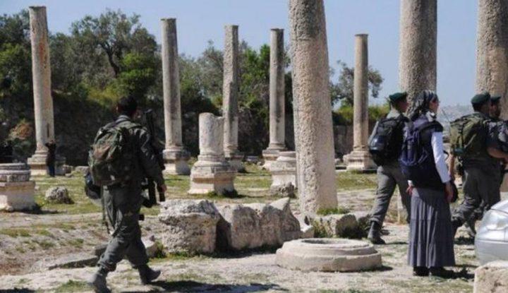 عشرات المستوطنين يقتحمون الموقع الأثري في سبسطية