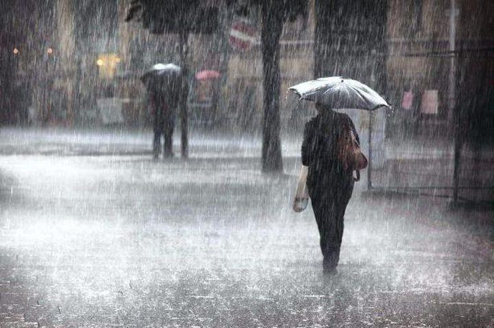 الطقس: منخفض جوي وأمطار غزيرة ليلا
