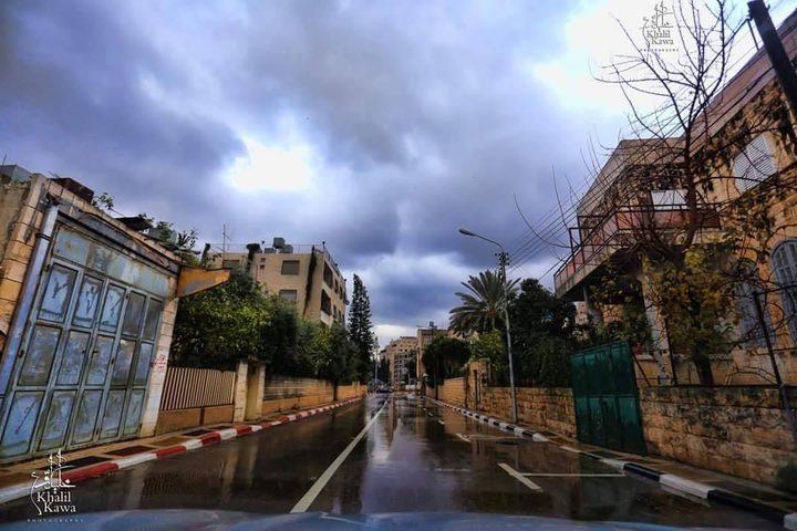 الأجواء الماطرة في مدينة نابلس