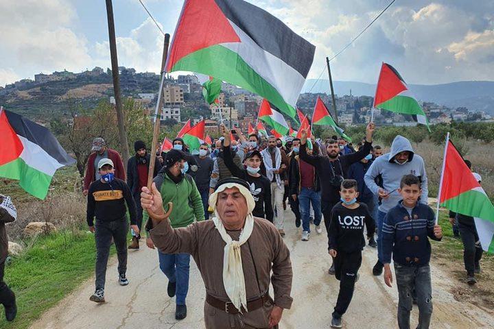 مسيرة بيت دجن الاسبوعية ضد الاستيطان