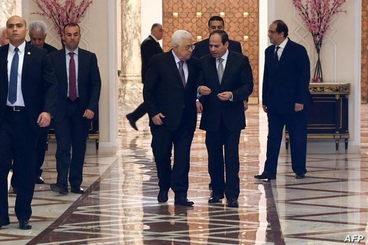 الرئيس عباس يصل إلى جمهورية مصر في زيارة رسمية