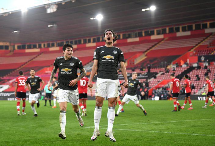 كافاني يقود مانشستر يونايتد لتحقيق ريمونتادا على ساوثهامبتون
