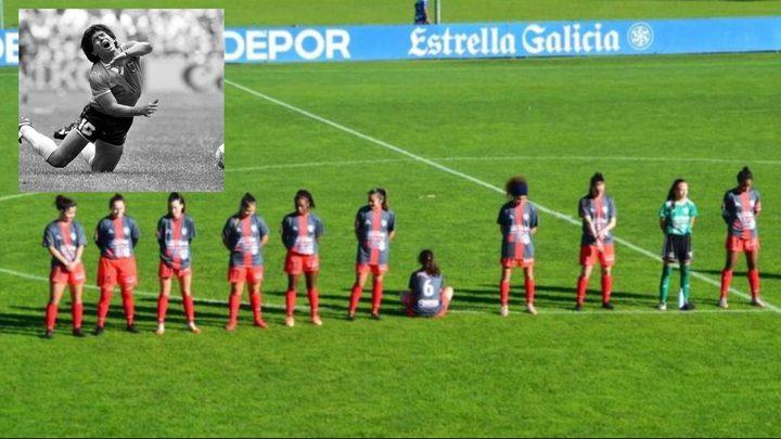 لاعبة اسبانية ترفض الوقوف دقيقة صمت حدادا على مارادونا