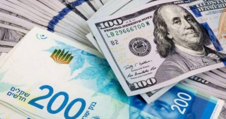 الدولار يتراجع أمام الشيقل إلى أدنى مستوى في 12 عاما