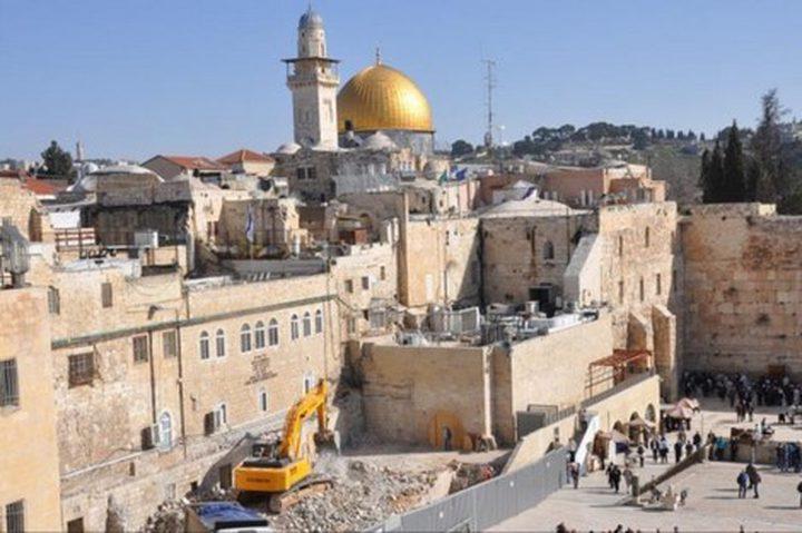 الأوقاف الاسلامية: الاحتلال يعمد الى تغيير طابع المدينة المقدسة