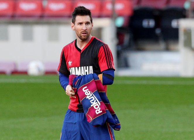 برشلونة يسعى لحذف إنذار ميسي الذي ناله بسبب مارادونا