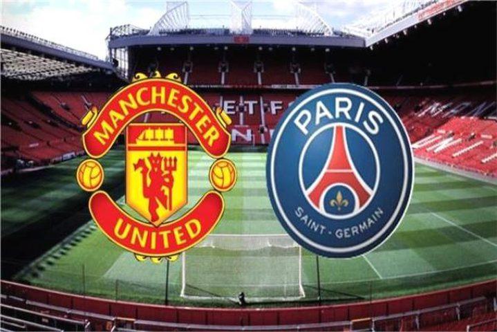 موعد مباراة باريس سان جيرمان ومانشستر يونايتد