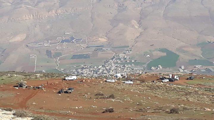 الاحتلال يصادر خيمة الاعتصام في بيت دجن شرق نابلس