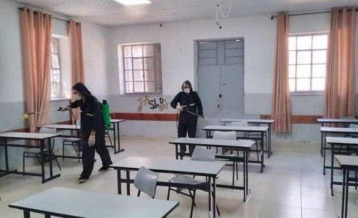 تعليق الدوام بمدرسة ومقر مديرية الضريبة بقلقيلية بسبب كورونا