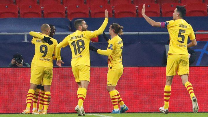 برشلونة يفوز عاى فرنسفاروش بثلاثية نظيفة