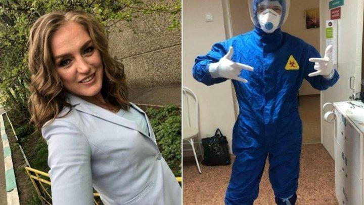 بطلة المصارعة الروسية تخوض تجربة التمريض بدخولها منطقة خطر العدوى