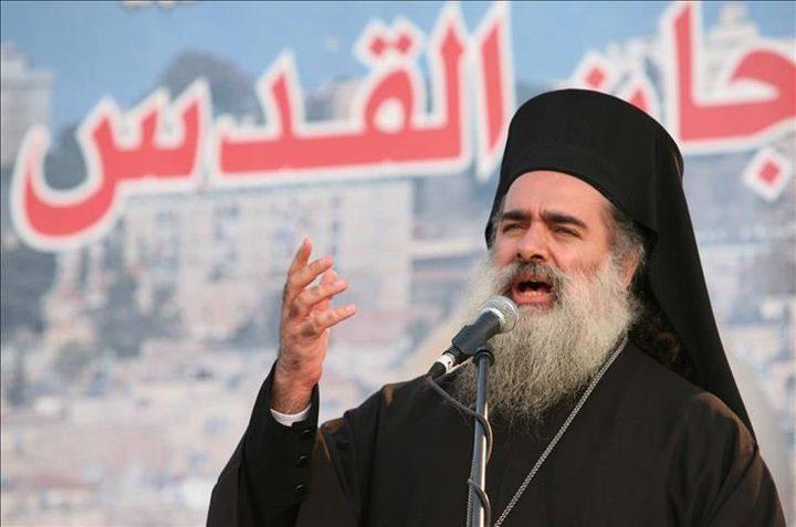 المطران عطا حنا:الاعتداء على كنيسة الجثمانية يدل على عقلية عنصرية
