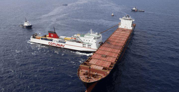 تصادم سفينتي بضائع في ميناء الملك عبد العزيز بالدمام
