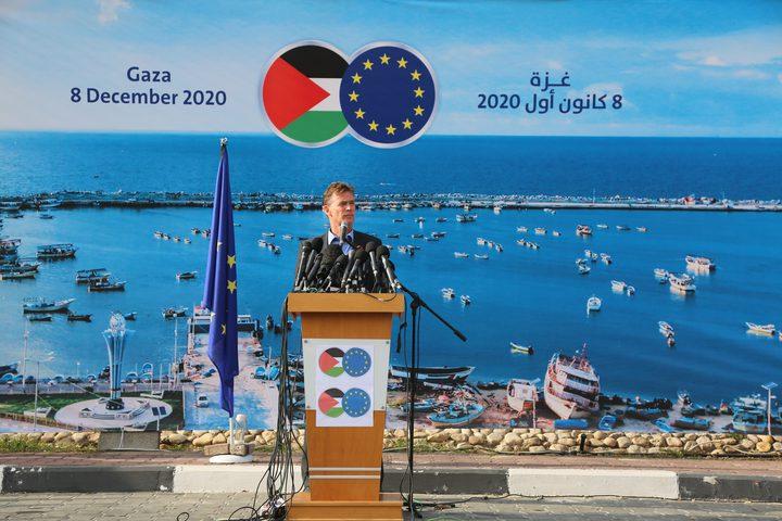 وفد الاتحاد الأوروبي يطلع على الأوضاع الصعبة في غزة