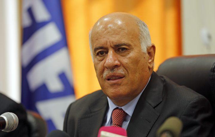الرجوب يصل العراق حاملا رسالتين من الرئيس لنظيره صالح