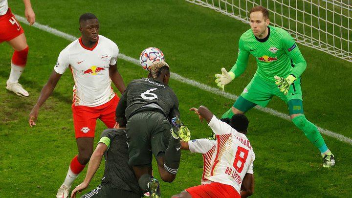 مانشستر يونايتد يودع دوري أبطال أوروبا بسقوطه أمام لايبزيغ