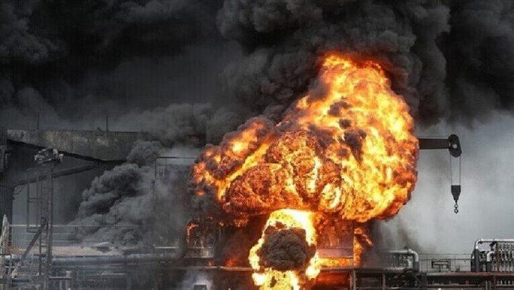 انلادع حريق في حقل نفط جراء انفجار عبوتين ناسفتين في العراق