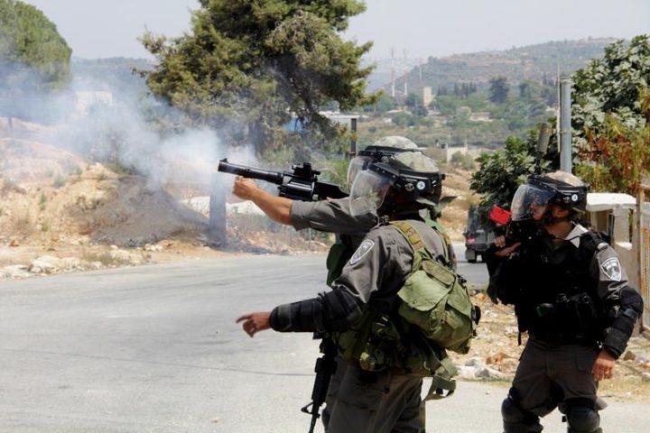 اصابات بالاختناق خلال مواجهات مع الاحتلال في سبسطية