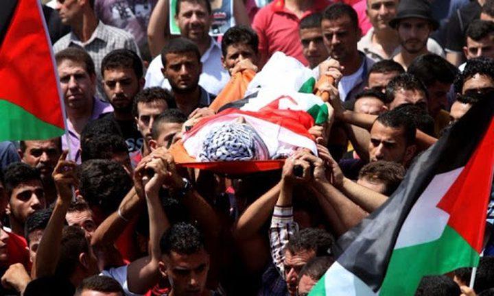 تشييع جثمان الشهيد حلاوة إلى مثواه الأخير في نابلس