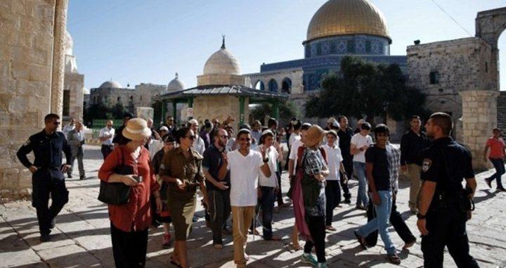 """مستوطنون يقتحمون """"الأقصى"""" بحماية قوات الاحتلال"""