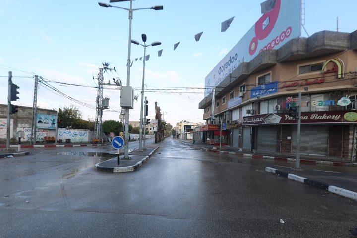 اغلاق شامل في قطاع غزة لمواجهة تفشي فيروس كورونا
