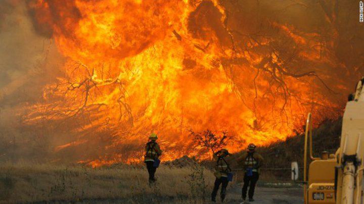 اندلاع حريقين في منطقتين باللد
