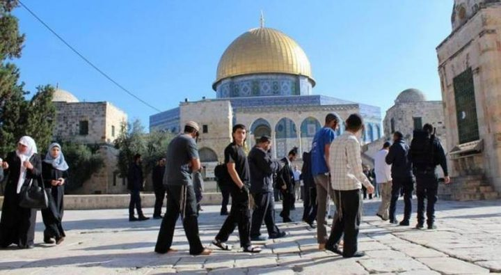 90 مستوطنا يقتحمون باحات المسجد الأقصى المبارك