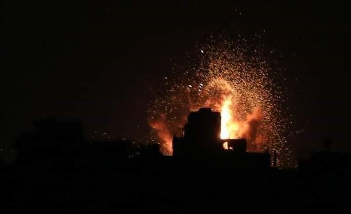 الاحتلال يشن سلسلة غارات على مدينة غزة