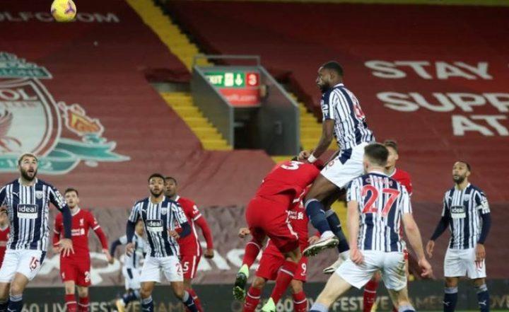 ليفربول يسقط في فخ التعادل أمام ويست برومتش ألبيون