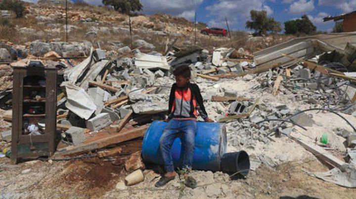 الاحتلال يهدم ورشتين لإصلاح المركبات جنوب نابلس