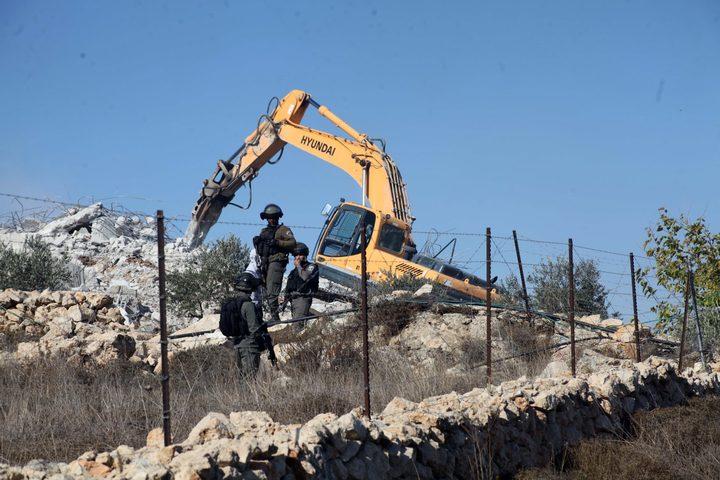 الاحتلال يهدم غرفة سكنية شمال سلفيت