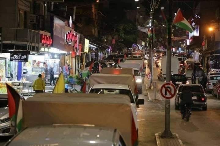 """فتح"""" تحيي انطلاقتها الـ56 بمسيرة مركبات في مخيم عين السلطان"""