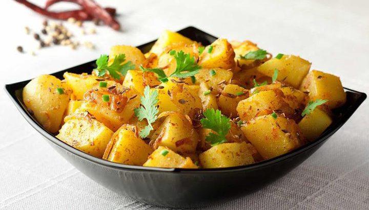 البطاطا الحارة الهندية