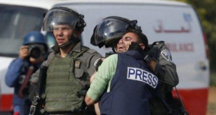 وزارة الاعلام: 350 انتهاكا احتلاليا بحق الصحفيين خلال عام 2020