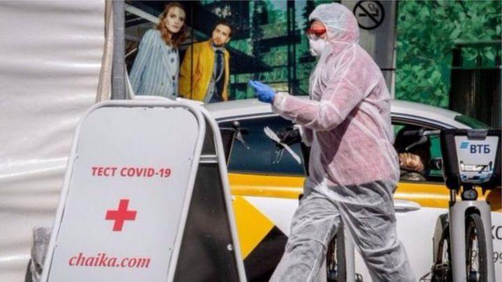 593 وفاة بكورونا خلال 24 ساعة في روسيا
