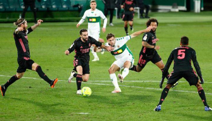 إلتشي يوقف عجلة انتصارات ريال مدريد ويفرض عليه التعادل