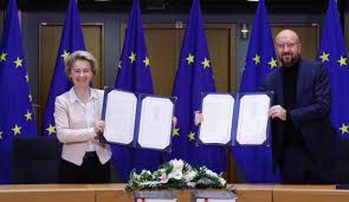 الاتحاد الأوروبي يوقع رسميا اتفاقية للتجارة مع بريطانيا