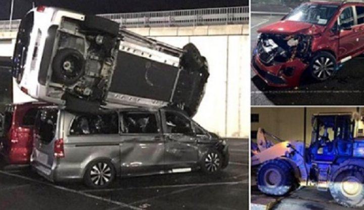 رجل غاضب يحطم 50 سيارة مرسيدس بقيمة 5 ملايين جنيه إسترليني