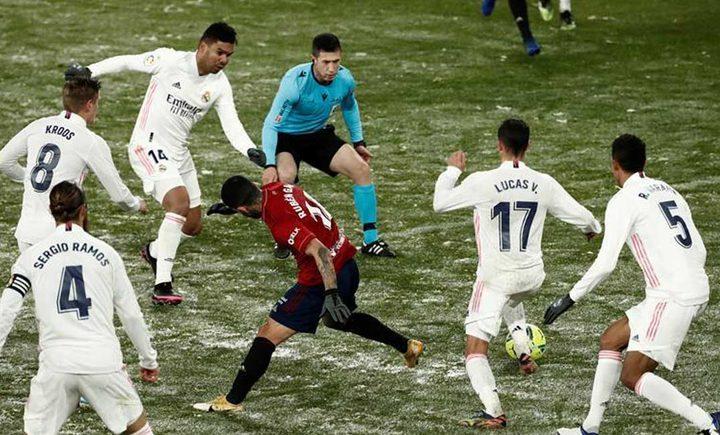 ريال مدريد يسقط في فخ ثلوج أوساسونا