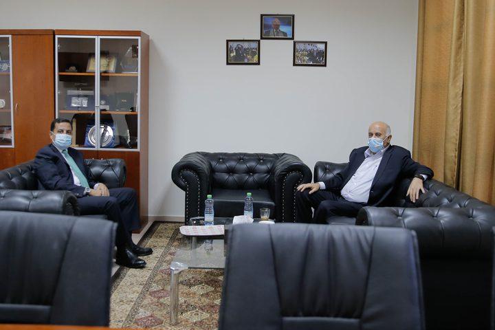 الرجوب يضع السفير الأردني في صورة آخر التطورات السياسية