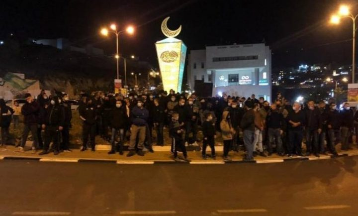اعتقالات وإصابات بإم الفحم إثر قمع مظاهرة ضد العنف