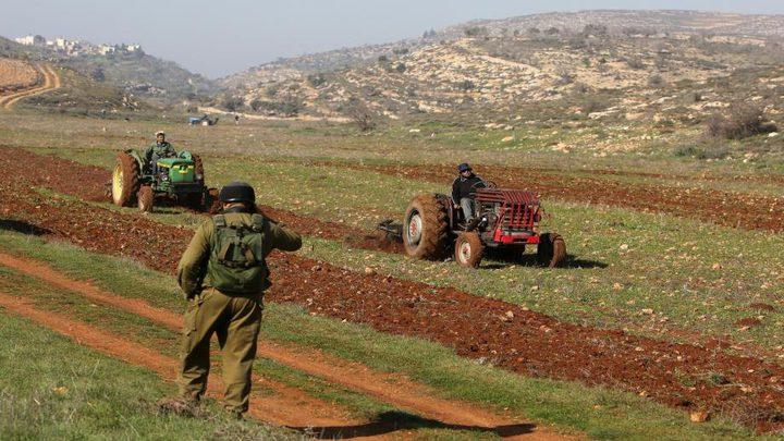 مستوطنون يقتلعون عشرات الأشجار ويعتدون على المواطنين في بيت أمر
